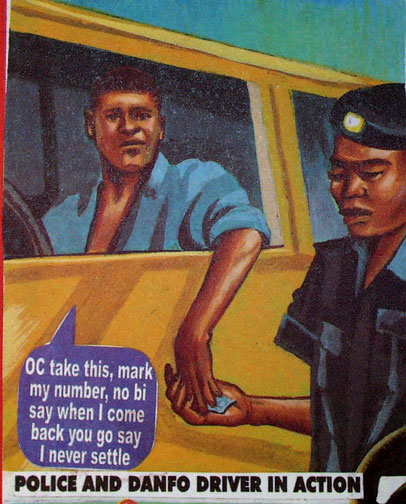 Nigerian Policemen; The Absolute Definition Of Disaster ~ @Haywenzo